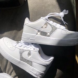 Rhinestone Crystal Air Force One bedazzled